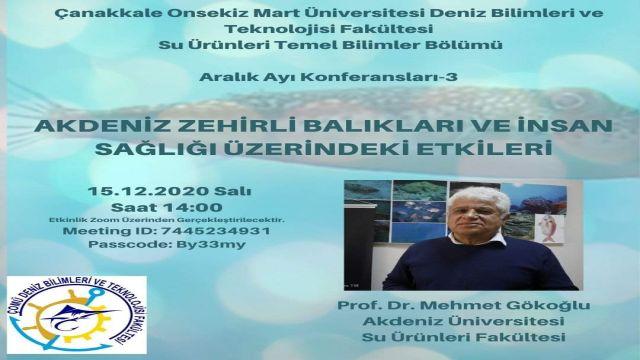 Prof.Mehmet Gökoğlu Zoom Etkinliği