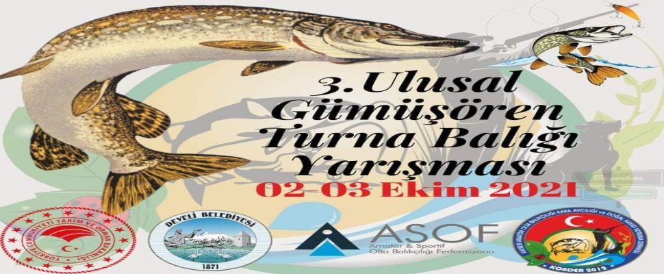 KOBDER 3.Ulusal Turna Balığı Yakalama Yarışması başlıyor