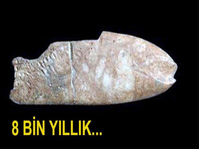 8 Bin Yıl Öncesine Ait 'Balık Figürü Bulundu